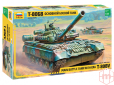 Zvezda - Russian main battle tank with ERA T-80BV, Scale: 1/35, 3592