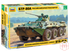 Zvezda - Russian personal armored carrier BTR-80A, 1/35, 3560