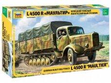 Zvezda - German Heavy Halftrack L 4500 R Maultier, 1/35, 3603