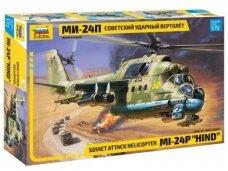 """Zvezda - Soviet Attack Helicopter Mi-24P """"Hind"""", Mastelis: 1/72, 7315"""