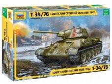 Zvezda - T-34/76 mod. 1942 Soviet Medium Tank, 1/35, 3686