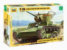 Zvezda - Soviet Light Tank (mod. 1933) T-26, 1/35, 3538