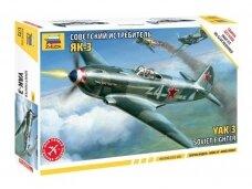 Zvezda - Soviet fighter Yak-3, Mastelis: 1/72, 7301