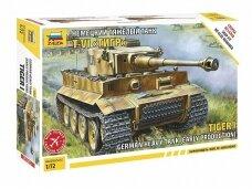 Zvezda - German Heavy Tank Tiger I, Mastelis: 1/72, 5002