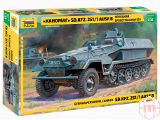 Zvezda - German Personnel Carrier Sd.Kfz. 251/1 Ausf. B, Mastelis: 1/35, 3572