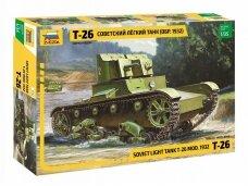 Zvezda - Soviet Light Tank T-26 Mod. 1932, Scale: 1/35, 3542