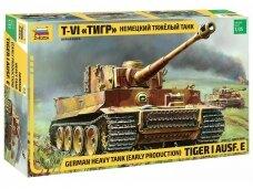 Zvezda - Tiger I Ausf. E (EARLY PRODUCTION), Mastelis: 1/35, 3646