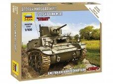 "Zvezda - US Light Tank M3A1 ""Stuart"", Scale: 1/100, 6265"