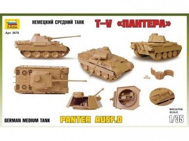 Zvezda - GERMAN MEDIUM TANK PZ. KPFW. V Panther (AUSF. D), 1/35, 3678 2