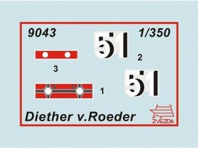 Zvezda - WWII Destroyer Z-17 Diether von Roeder, Mastelis: 1/350, 9043 2