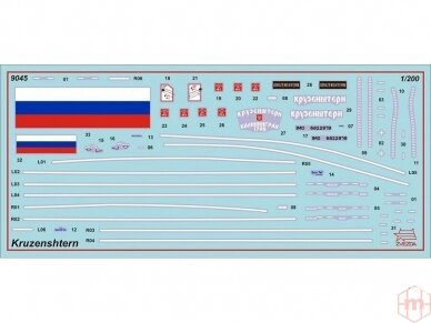 "Zvezda - ""Kruzenshtern"" - Russian Four-Masted Barque, Mastelis: 1/200, 9045 3"