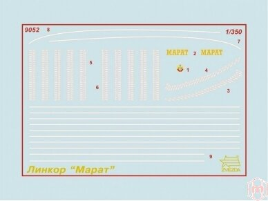 Zvezda - Soviet Battleship 'Marat', Mastelis: 1/350, 9052 2
