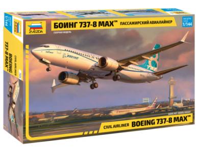 Zvezda - Civil Airliner Boeing 737-8 MAX, Mastelis: 1/144, 7026