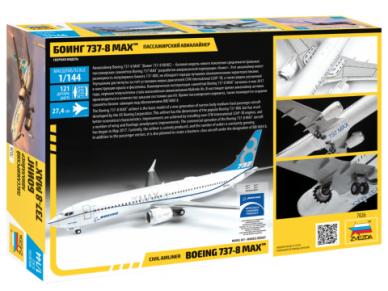 Zvezda - Civil Airliner Boeing 737-8 MAX, Mastelis: 1/144, 7026 2