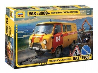 Zvezda - Emergency Gas Service UAZ 3909, Mastelis: 1/43, 43003