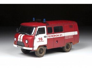 Zvezda - Fire Service UAZ 3909, Mastelis: 1/43, 43001 2