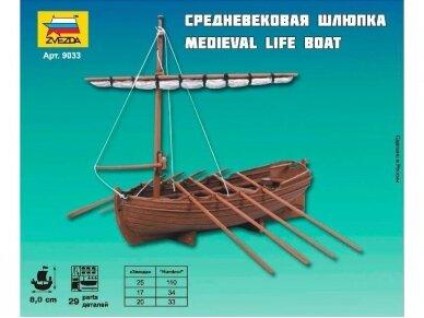 Zvezda - Medieval Life-Boat, 1/72, 9033 3