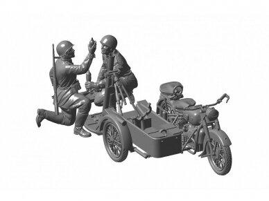 Zvezda - Soviet Motorcycle M-72 w/Mortar, Scale: 1/35, 3651 4