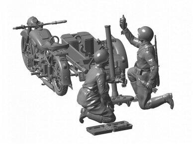 Zvezda - Soviet Motorcycle M-72 w/Mortar, Scale: 1/35, 3651 2