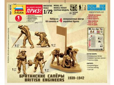 Zvezda - British Engineers 1939-1942, 1/72, 6219 3