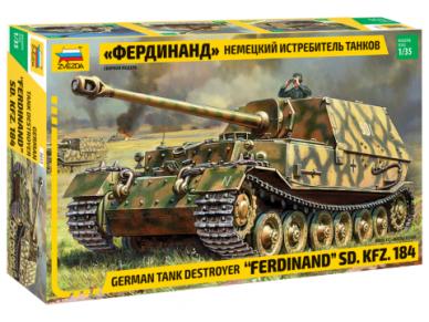 "Zvezda - German Tank Destroyer ""Ferdinand"" SD.Kfz. 184, Mastelis: 1/35, 3653"