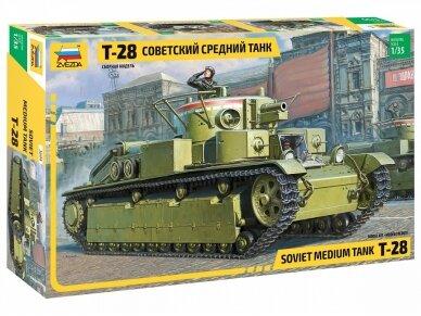 Zvezda - Soviet Medium Tank T-28, Mastelis: 1/35, 3694