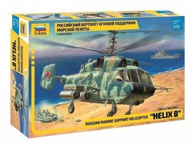 "Zvezda -  Russian Marine Support Helicopter ""Helix B"", Mastelis: 1/72,7221"