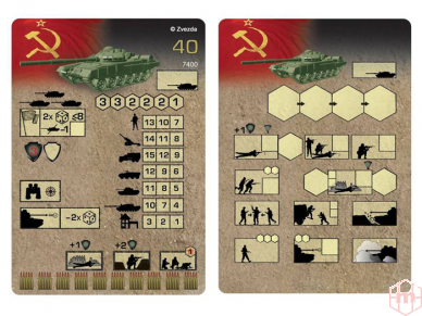 Zvezda - Soviet Main Battle Tank T-72B, 1/100, 7400 2