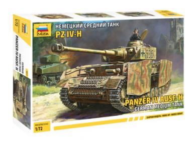 Zvezda - Pz.Kpfw.IV Ausf.H, Mastelis: 1/72, 5017