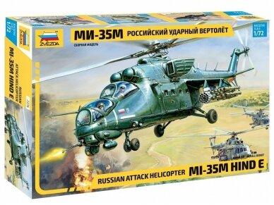Zvezda - Russian Attack Helicopter Mi-35M Hind E, Mastelis: 1/72, 7276