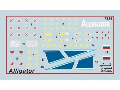 "Zvezda -  Russian Attack Helicopter ""Alligator"", Mastelis: 1/72,7224 3"