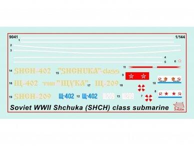"""Zvezda - Soviet WWII Submarine - """"Shchuka"""" (SHCH) class, 1/144, 9041 2"""