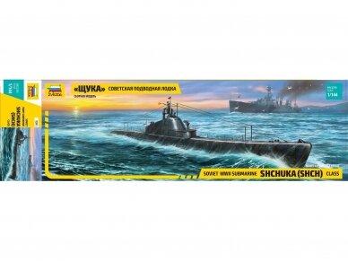 """Zvezda - Soviet WWII Submarine - """"Shchuka"""" (SHCH) class, 1/144, 9041"""