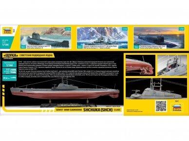 """Zvezda - Soviet WWII Submarine - """"Shchuka"""" (SHCH) class, 1/144, 9041 3"""