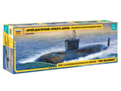 Zvezda - Russian Navy SSBN Yuri Dolgoruky, Mastelis: 1/350, 9061