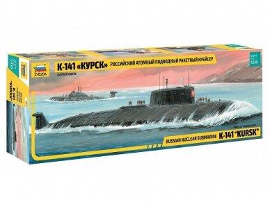 """Zvezda - Russian Nuclear Submarine K-141 """"Kursk"""", 1/350, 9007"""