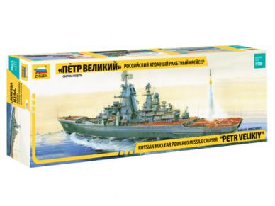 Zvezda - Russian Nuclear-powered missile cruiser Petr Velikiy, Mastelis: 1/700, 9017