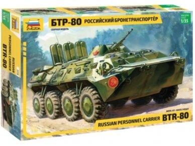 Zvezda - Russian Personnel Carrier BTR-80, 1/35, 3558