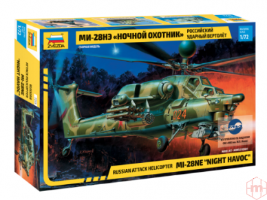 "Zvezda - Russian Attack Helicopter MI-28NE ""Night Havoc"", 1/72, 7255"