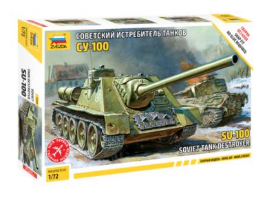 Zvezda - Soviet Self-Propelled Gun SU-100, Mastelis: 1/72, 5044