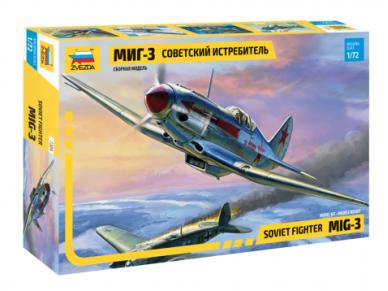 Zvezda - MiG-3 Soviet Fighter, 1/72, 7204