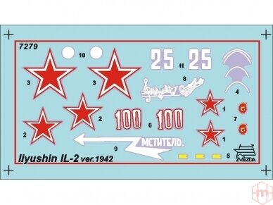 Zvezda - Soviet armored attack aircraft Il-2 Stormovik, 1/72, 7279 2