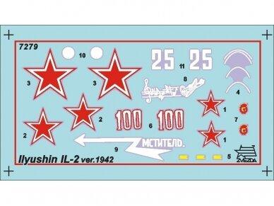 Zvezda - Soviet armored attack aircraft Il-2 Stormovik, Mastelis: 1/72, 7279 2
