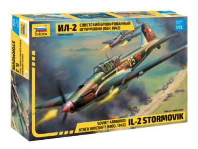 Zvezda - Soviet armored attack aircraft Il-2 Stormovik, Mastelis: 1/72, 7279