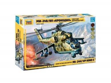 Zvezda - Soviet Attack Helicopter Mi-24V/VP Hind E, Mastelis: 1/72, 7293
