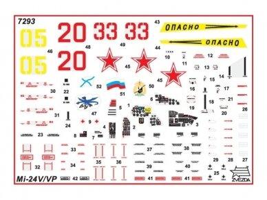 Zvezda - Soviet Attack Helicopter Mi-24V/VP Hind E, Mastelis: 1/72, 7293 3