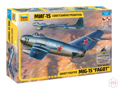 "Zvezda - Soviet fighter Mig-15 ""Fagot"", Mastelis: 1/72, 7317"