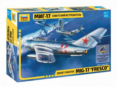 Zvezda - Soviet fighter Mig-17, Mastelis: 1/72, 7318