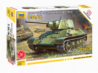 Zvezda - Soviet Medium Tank T-34/76, 1/72, 5001