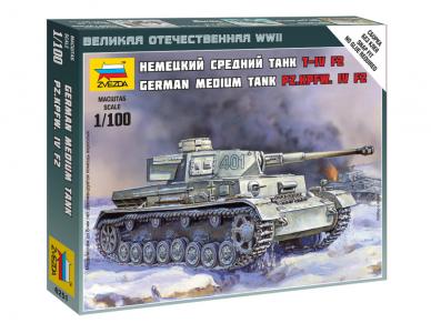 Zvezda - Panzer IV Ausf.F2, 1/100, 6251